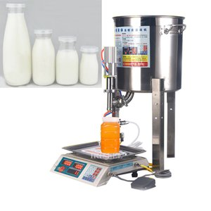 CE automatique petite machine de remplissage du miel de miel lait manuel yogourt sésame sauce au sésame huile pesant remplissage quantitative liquide mac