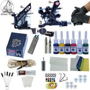 Beginner Professional Tattoo Machine Kit 2pcs Top Tattoo Machine For Lining And Shading Sets Power Kits Permanent Makeup1