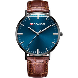 Men's watches business casual fashion quartz watch manufacturers simple waterproof watch net steel belt ultra-thin watc