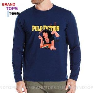 2020 새로운 패션 펄프 픽션 (Pulp Fiction)는, 포스터 프린트 T 셔츠 남성 가을 캐주얼 100 %면 긴 소매 티셔츠 하라주쿠 스트리트 탑