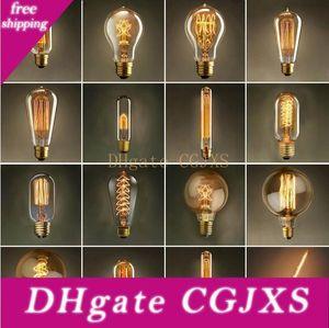 Урожай Эдисон лампочку AC 110V E27 40W Ретро Лампа накаливания Свет лампы для гостиной Спальня Столовая Home Decor