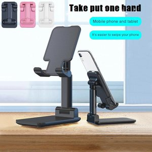Faltbare Alu-Metall-Telefon-Halter Halterung Mobile Adjustable Flexible Desk Stand Compatiable Für Smartphone iPhone Samsung Tablet-PC MQ50