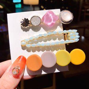 1Set coreana della perla di modo forcelle delle ragazze dei capretti eleganti clip di capelli Pin Barrettes Accessori headdress