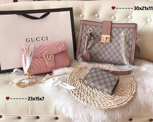 2020 Fiery Best Selling Three-Piece Set Women's designer Mahjong Bag Designer Lady Handbag Famous Tote Bag Drop shipping handbags wallets 04