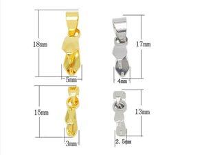 Acciaio inossidabile Pinch Bail, acciaio inox 304, colore originale, più misure e colori per la scelta, venduto dal lotto, 100 pc / lotto