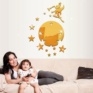 3colors Fairy sprinkle stars TV wall stickers home accessories fashion can be removed mirror wall stickers children room wall sticker