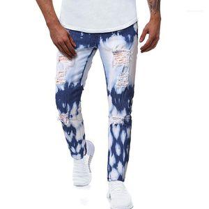Clothes Autumn Male Designer Casual Jeans Slim Low Waist Distrressed Whiten Hole Pencil Pants Fashion Mens