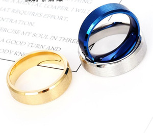 Stainless Steel Jewelry Titanium Steel Ring Matte Plated Ring 6mm Matte Surface