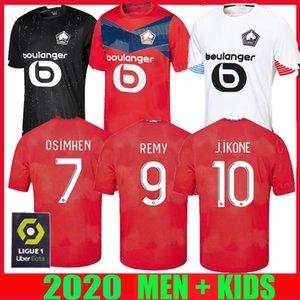 20 21 LOSC Lille pullover di calcio casa lontano TERZI 2020 20 21 Maglia Sanches piede Osimhen BAMBA Yazici uomo di età T-shirt bambini Football Kit