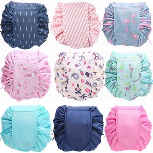 2018 Women Travel Magic Pouch Drawstring Cosmetic Bag Organizer Make up Cases Beauty Toiletry Kit Tools Wash Storage wash bag