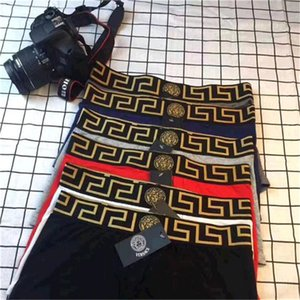 Erkek İç Giyim Boxer Homme Underpants Versace Rahat Erkek İç Çamaşırı Boksörler Yumuşak Boxer Erkekler Erkekler homme Boxershorts
