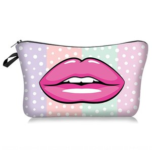 Sexy lip rose print fashion Wash cosmetic cosmetic bag women&#39s storage wash bag