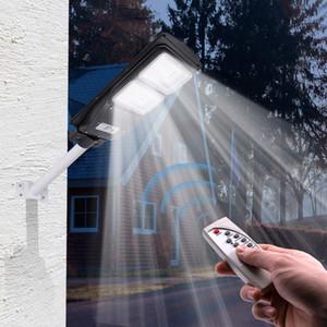 Солнечная Светодиодные лампы Wall Street Light 30W / 60W / 90W Радар Индукционная Открытый Timing лампа + пульт дистанционного Водонепроницаемая лампа безопасности для сада Yard