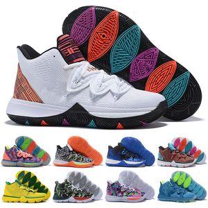 Alta Qaulitys Kyrie V duca Bambino Uomo scarpe da basket formatori Irving 5 RoKit Little Mountain Oreo Amici NakeskinGiordaniaretros