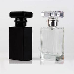 2020 cristal vacía de niebla fina botella del aerosol 30ml botellas Negro Claro recargable pulverizador 1OZ envío