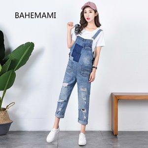 BAHEMAMI Denim Jeans Trajes de maternidad correas Pantalones para embarazadas ropa de las mujeres del embarazo se preparaban Suspender mono de los mamelucos