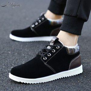 2020 Winter New Men's Shoes Plus Velvet Cotton Boots Casual Warm Low Cut Men's Fashionable Snow Boots Sports Cotton Shoes D1666