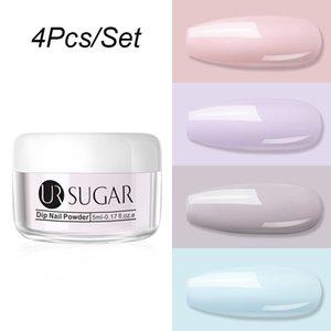 UR SUGAR 4 Pcs Dipping Nail Powders UV Colors Nail Glitters Dipping Set Series Semi Permanent DIY Art Acrylic Paint Nails