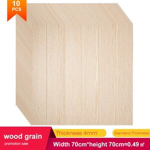 3D foam wall panel self adhesive Stickers Wood grain home decor living room for kids baby rooms bedroom sticker wallpaper