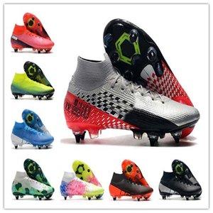 De calidad superior para hombre Mercurial 13 Elite SG zapatos de fútbol de alta zapatillas de deporte de fútbol cargadores de las grapas Cr7 Jóvenes Adultos Scarpe Calcio