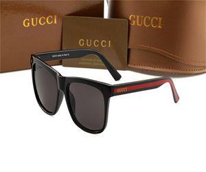 2020 Nueva cristal de las gafas de sol de la manera europea y americana de los hombres y mujeres de tendencia gafas de sol Pareja de viaje Calle unisex del verano Gucci