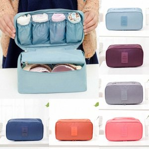 Save Space Bra Underwear Socks Cosmetic Packing Cube Protable Storage Bag Travel Luggage Organizer JAtO#
