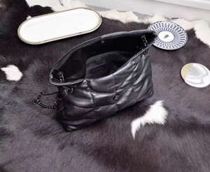 Nuovo morbida pelle di capra classico di alta qualità un sacchetto-spalla delle donne eleganti borsa delle donne catena di metallo spedito gratis