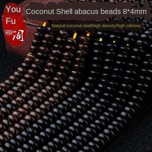 partición de cáscara de coco bolas de junta posterior Loach ángulo recto estrella de la luna pulsera pulsera de Bodhi accesorios accesorios materiales