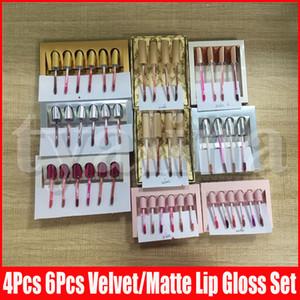 Mini Gold Birthday Edition liquid lipstick send me more nudes Matte velvet holiday koko Lipstick Lip Gloss 6pcs 4pcs set