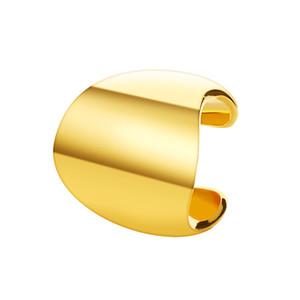 1PCS Ear Clip Simple Metal Polishing Men And Women Ear Bone Clip Punk Retro Geometry Wide Version Ear Pierced Earrings