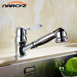 Galvanoplastia cozinha clássica torneira lavatório quente e fria torneira Europeia puxar estilo XT-5 T4Nw #