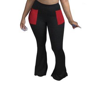 Slim Fit High Waist Fitness Pants Famale Fashion Trousers Women Skinny Bootcut Pants Casual Pocket