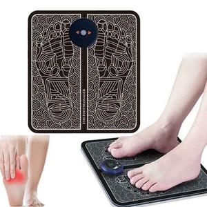 Elétrica EMS Foot Massage Pad Pés Acupuntura Estimulador de Pulso Muscle Massager Pés da massagem Almofada USB Foot Care Machine Tool