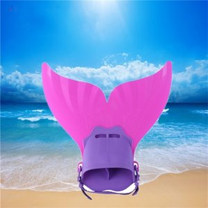 Pure Color Mermaid Fins Kids Popular Monolithic Swimming Webbed Feet Summer Beach Security Whale Tail Portable Hot Sale 24rlI1