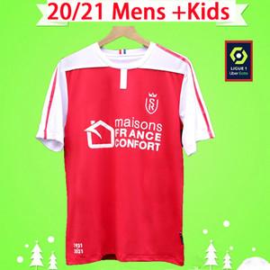 2020 2021 Stade maillots de football Reims Disasi Cafaro KONAN DIA Foket CHAVALERIN Zeneli Maillot de pied 20 21 hommes tees de football kit