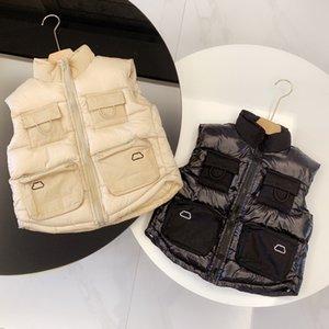 Vestes Enfants Mode Manteaux 2020 Vente chaude Lettre Broderie Vêtements Garçons Filles Vestes Casual manches enfants Gilet chaud