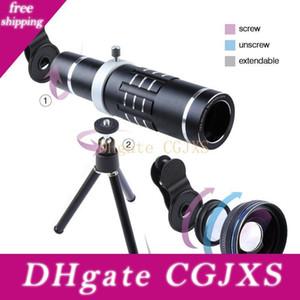 18x Teleskop Kamera Zoom Optik Cep telefonu Telefoto Lens Hx -1821 Geniş Iphone 7 6 Se Samsung ile Hd 0 .45x Super Açı Lentes İçin