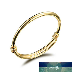 Fashion 18K Yellow Gold Color Lovely Children Kid Boy Girl Infant Baby Bangle Bracelet Gift Lucky Newest Bangle for Childrens