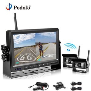 "Podofo 18 LED Car Rear View Wireless Backup Camera Kit + 7"" TFT Auto LCD Monitor 12V-24V For Truck Van Caravan Trailers Campers"