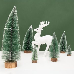 Mini Christmas Trees Christmas Pine Trees Artificial Trees Xmas Docoration New Year Gift Party Supplies Tabletop Decor