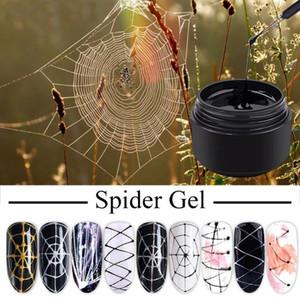 Nail Art polaco araña barniz de uñas 8 ml Gel de araña Web Pintura creativa del gel del trefilado Paint híbrido uñas polaco nueva