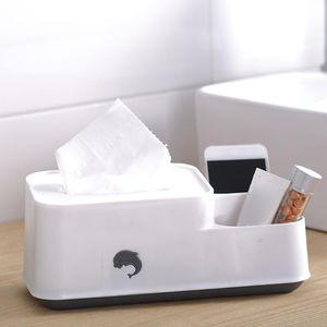 Tissue Box С 2 Отсеки Desktop Organizer Многоцелевой Салфетки для лица Box Для дома и офиса