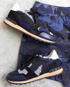 2020 Newst Ayakkabı [Orijinal Kutu] Camo Süet Çivili Kamuflaj Örgü Kaya Koşucu Sneaker Ayakkabı Kadınlar için, Erkekler Çivili Rahat Ucuz Satış EU36-46