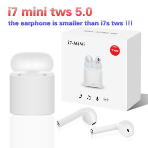 New i7 Mini Tws 5.0 Bluetooth Earphone Wireless Earbuds with charging Box Air Headset Pods Headphones for smartphone i9 i12 i20 i10 tws