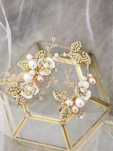 2020 new retro baroque bridal hair comb bride crystal pearl hair stick wedding accessory set of 2pcs set