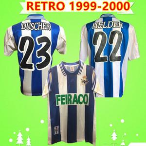 1999 2000 Deportivo de La Corogne maillot de football rétro 98 00 depor vintage maison Makaay MAURO SILVA FRAN Djalminha chemise classique de football