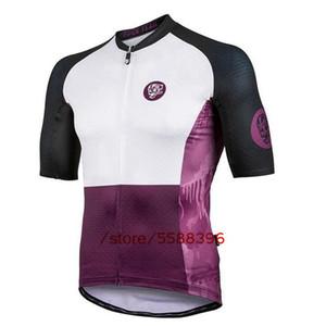 Maglia Ciclismo serie attaquer viola uomini Retro ciclo vestiti manica corta Road Bike Abbigliamento Ropa Ciclismo Outdoor MTB Maillot