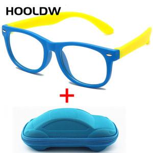 HOOLDW Yeni Anti mavi ışık Çocuklar Gözlük Erkekler Kızlar Optik Çerçeve Bilgisayar Şeffaf Gözlük Çocuklar Silikon Yumuşak Gözlükler