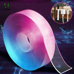 UNTIOR Traceless lavable Cinta adhesiva reutilizable extraíble transparente de doble cara cinta Nano baño Accesorios de cocina