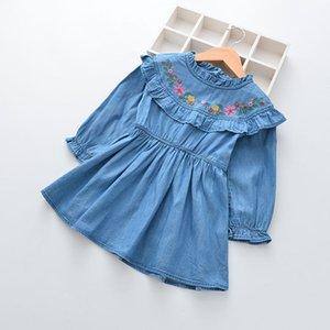 DHgate Fashion Toddler Kids Baby Girls Clothes Embroidery Party Wedding Pageant Princess Dress Clearance newst baby dress Z0208